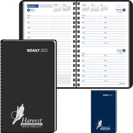 Advertising Day-Per-Page Desk Planner Wired to Cover