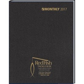 Ruled Monthly Stitched To Cover Desk Planner for Your Company