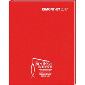 Ruled Monthly Stitched To Cover Desk Planner with Your Logo