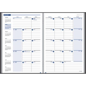Ruled Monthly Stitched To Cover Desk Planner for Marketing