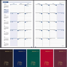 Branded Ruled Monthly Stitched To Cover Desk Planner