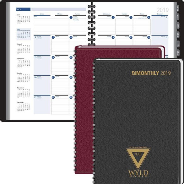 Ruled Monthly Format Tabbed Address Planner
