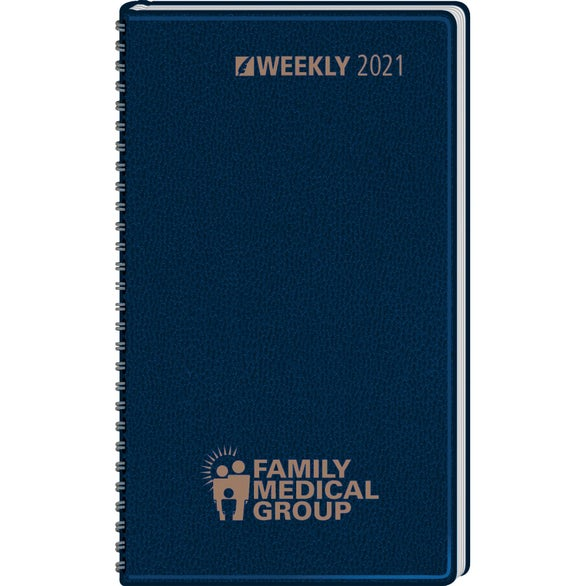 Navy Blue Ruled Pocket Calendar