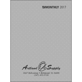 Printed Ruled Monthly Desk Planner with Paper Cover