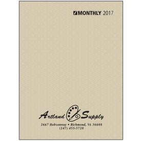 Ruled Monthly Desk Planner with Paper Cover with Your Logo