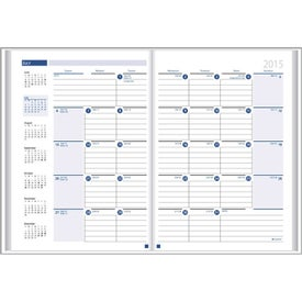 Ruled Monthly Desk Planner with Paper Cover Imprinted with Your Logo