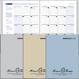 Ruled Monthly Desk Planner with Paper Cover (2020)