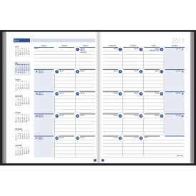 Monthly Format Stitched to Cover Desk Planner for Your Church