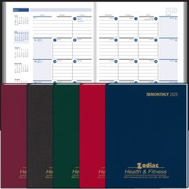Monthly Format Stitched to Cover Desk Planner (2020)