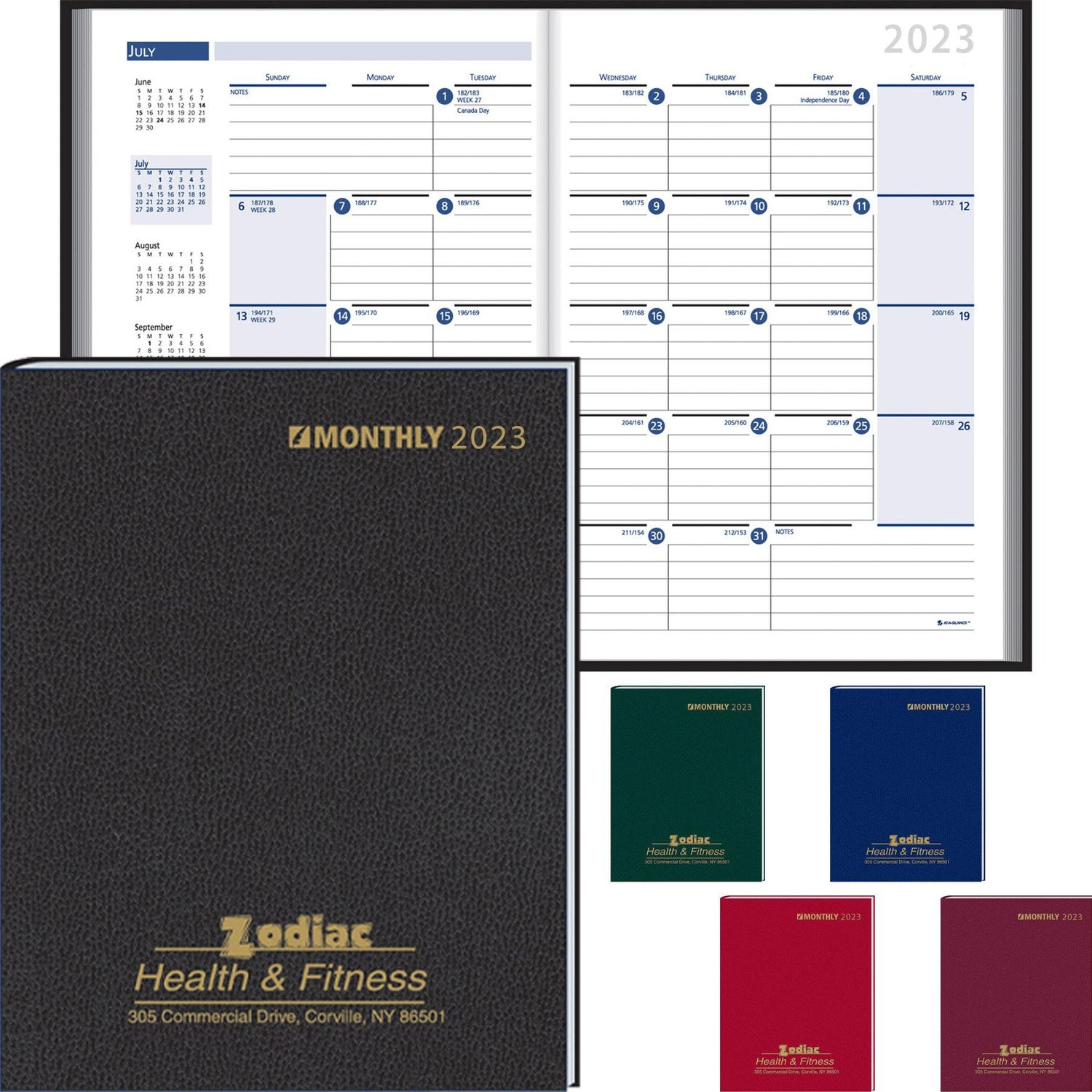 Promotional 2019 Monthly Format Stitched To Cover Desk Planners With
