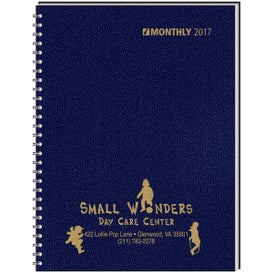 Ruled Monthly Wired to 2 Piece Cover Desk Planner for your School