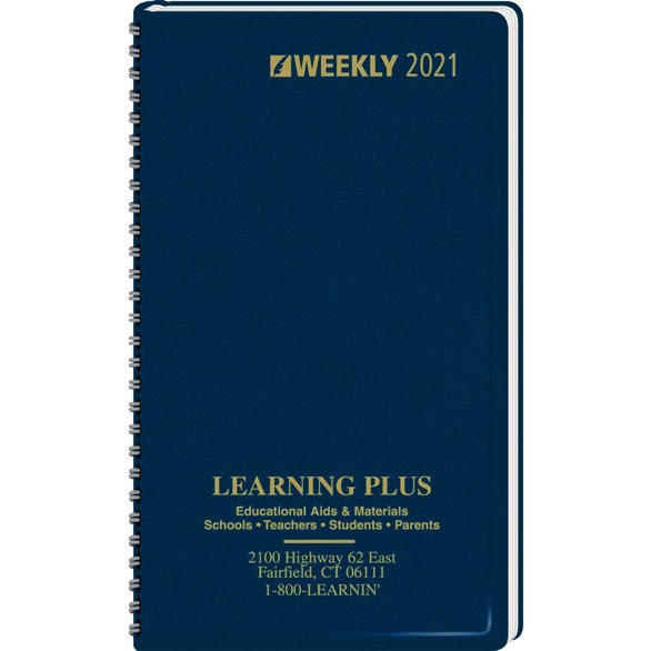 Navy Ruled Pocket Calendar
