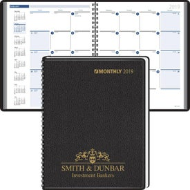 Unruled Monthly Extra Large Calendar Blocks Wired