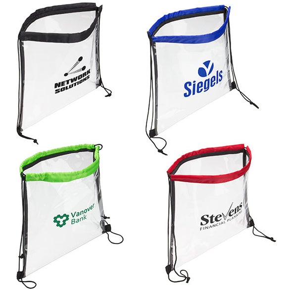 Clear Bag with Drawstring