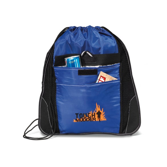 Royal / Black Elite Sport Cinchpack with Insulated Pocket