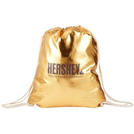 Metallic Drawstring Backpacks