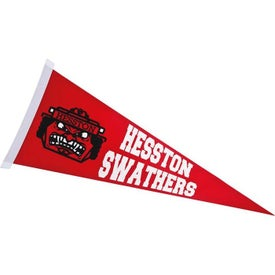 Colored Felt Pennants with Sewn-On Strip (30