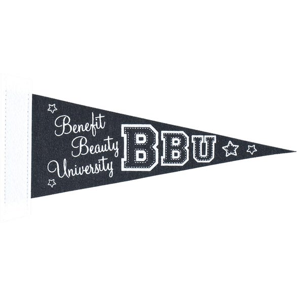Black Colored Felt Pennant with Sewn Strip