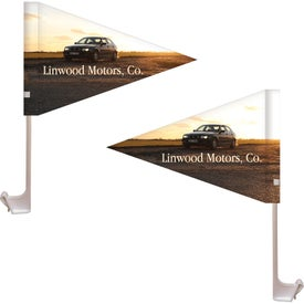Double Sided Pennant Style Custom Car Flags