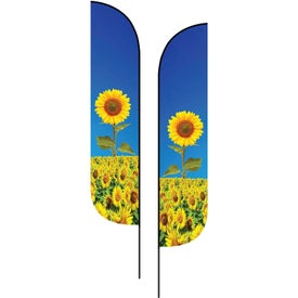 Large Double-Sided Feather Flags