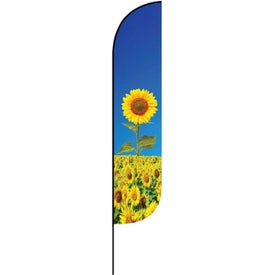 Large Single Sided Feather Flags