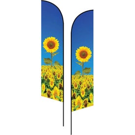 Small Double-Sided Angle Flags