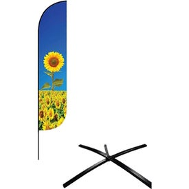 Small Feather Flag Premium Single-Sideds with Econo X Base and Carry Bag