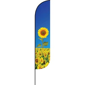 Small Single Sided Feather Flag