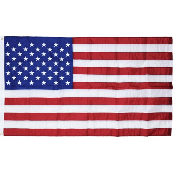 Red / White / Blue U.S. Outdoor Nylon Flag with Heading and Grommets