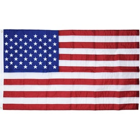 U.S. Outdoor Nylon Flags with Heading and Grommets (60