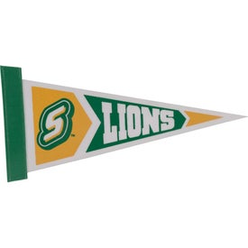 White Felt Pennants with Sewn-On Strip (12