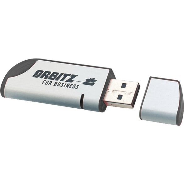 Silver / Black Jazzy Flash Drive