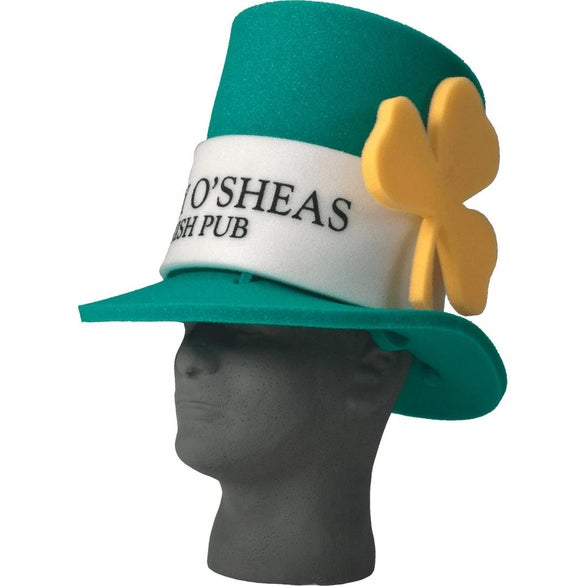 Dark Green Foam St. Patty's Hat
