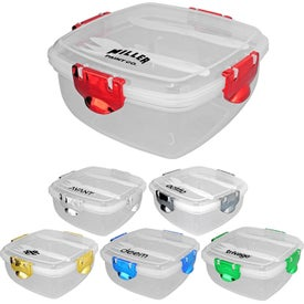 Metallic Clip Top Containers (Pad Print)