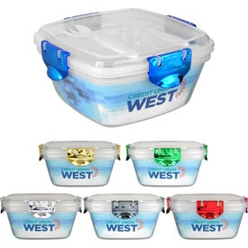 Metallic Clip Top Containers (Full Color Logo)