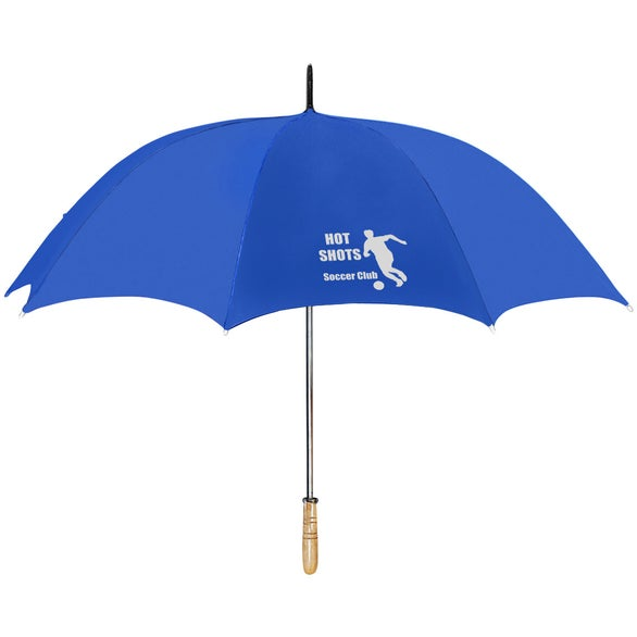Blue Golf Umbrella with RPET Canopy