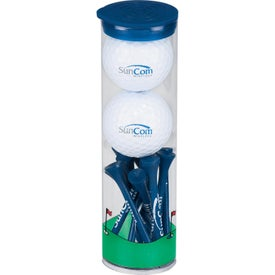2 Ball Tall Tube with Pinnacle Rush Golf Balls