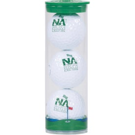 3 Ball Tube with Callaway Warbird 2.0 Golf Balls