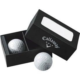 Customized Callaway 2-Ball Business Card Box