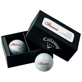 Logo Callaway 2-Ball Business Card Box