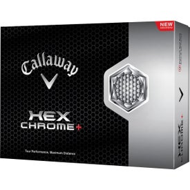 Hex Chrome Plus Golf Ball Branded with Your Logo