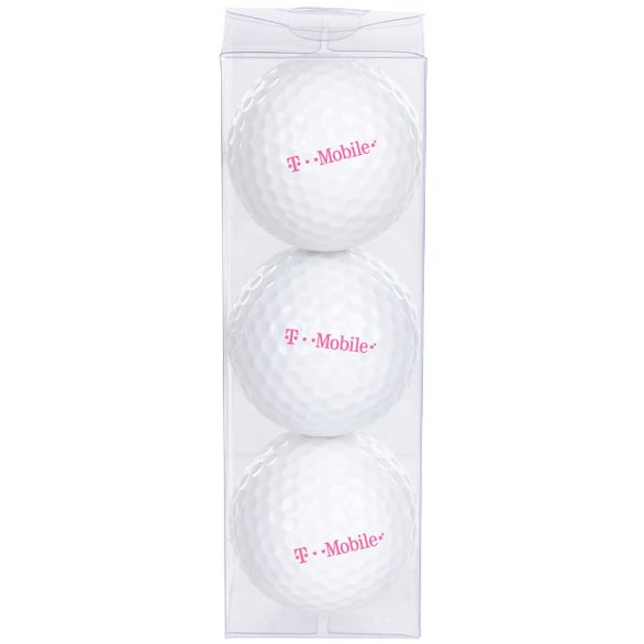 White Economy Triple Golf Ball Pack