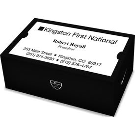 Nike 2-Ball Business Card Box With Power Long Printed with Your Logo