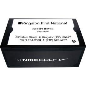 Imprinted Nike 2 Ball Business Card Box