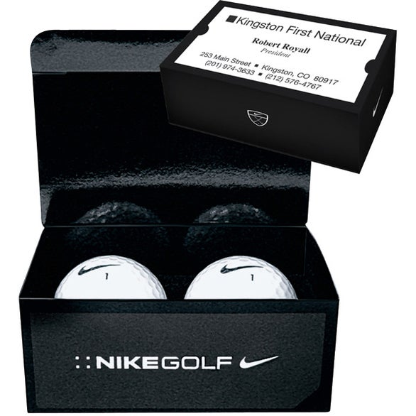 Nike 2 Ball Business Card Box