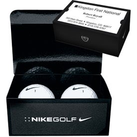 Nike 2 Ball Business Card Box (Power Long Golf Ball)