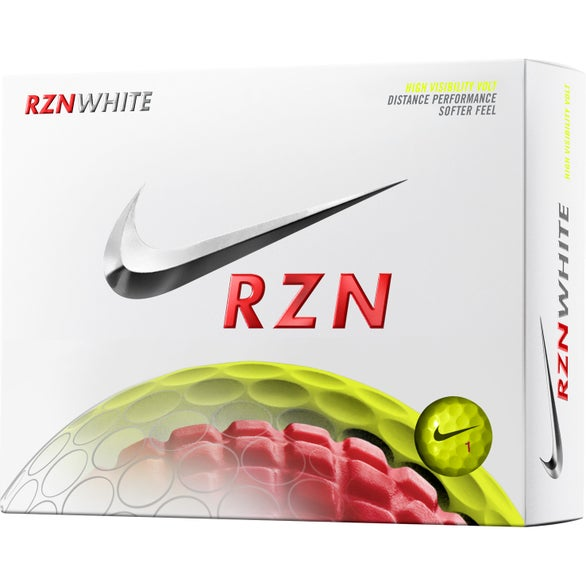 Nike RZN White Volt Golf Ball