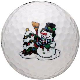 Imprinted Pinnacle Ribbon Golf Ball