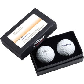 Titleist 2 Ball Business Card Box for Advertising
