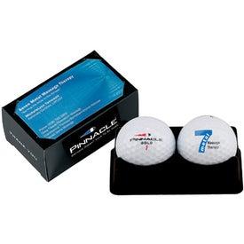 Branded Titleist 2 Ball Business Card Box